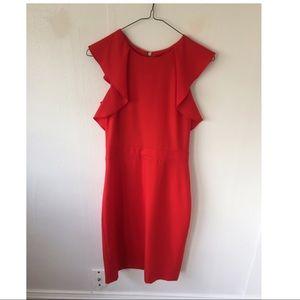 J. Crew red formal dress